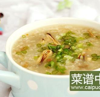 淡菜菌菇腊肉粽子粥