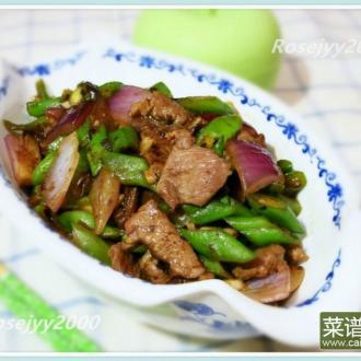 蒜头豆豉牛肉四季豆