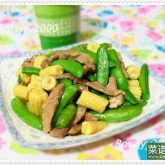 甜豆小炒肉