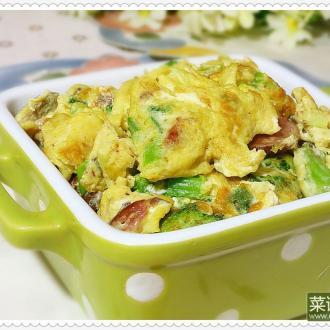 叉烧香肠炒蛋