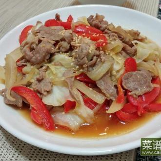 和风姜烧青菜炒猪肉
