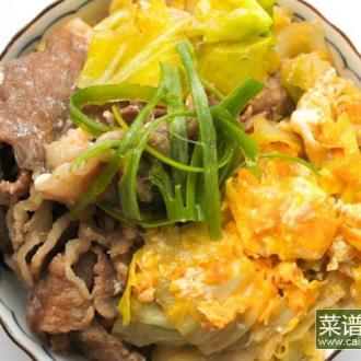 高丽菜猪肉盖饭