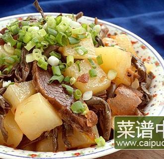 腌豇豆坛子肉焖土豆