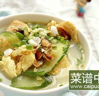 淡菜青瓜鸡蛋汤