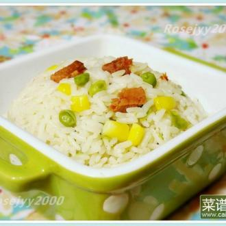 压力锅火腿玉米饭