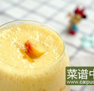 黄桃酸奶奶昔