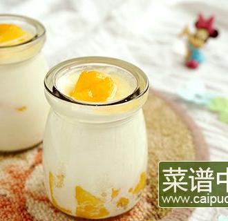 大果粒黄桃酸奶
