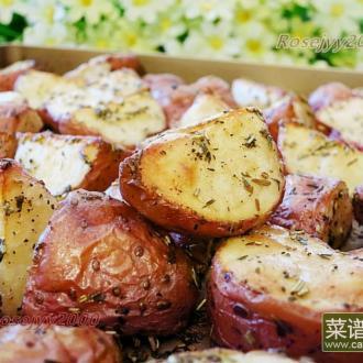 烤箱香草红皮土豆