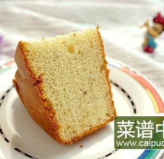 桂花酸奶戚风蛋糕