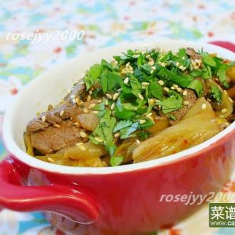 韩式泡菜炒牛肉