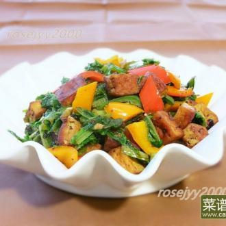 油麦菜炒豆干