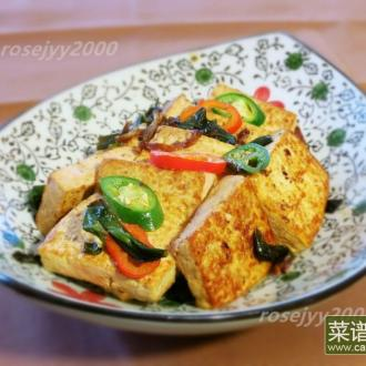 鱼汁香葱烧豆腐