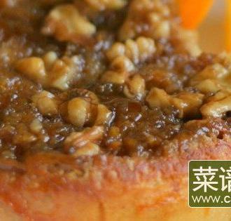 橙色山核桃法式吐司