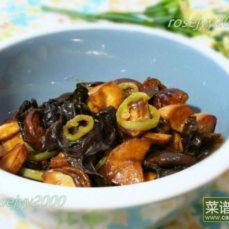 蚝油木耳杏鲍菇