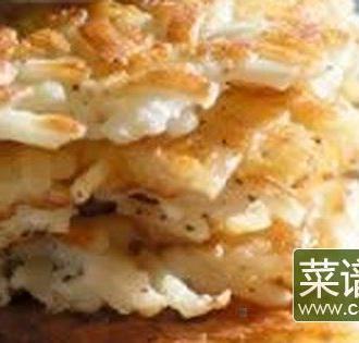 用马铃薯粉简制土豆饼