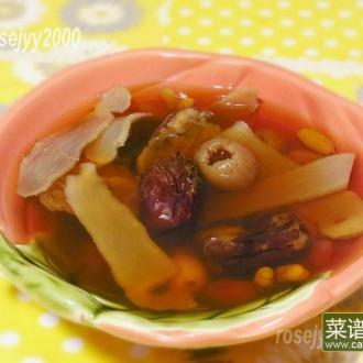 红枣红豆莲籽汤