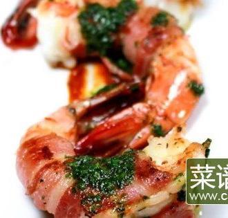 炸培根虾卷