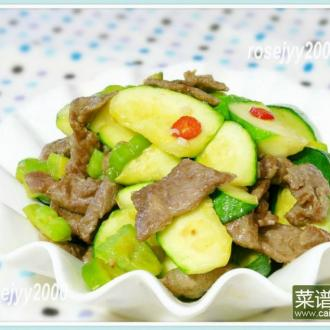 牛肉炒双瓜