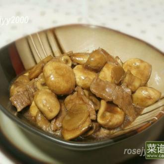 蚝油蘑菇牛肉