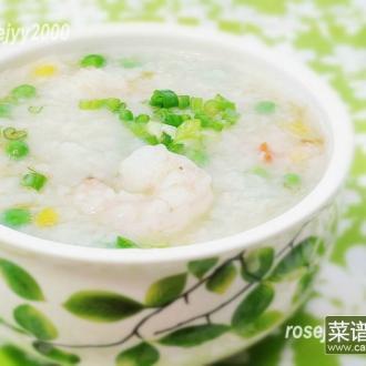 生滚虾仁玉米粥