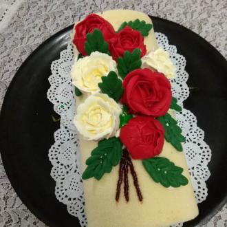 裱花蛋糕卷