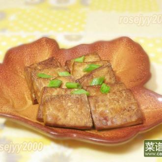 空气炸锅烤豆腐