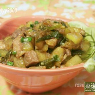 葱香冬瓜猪肉丁