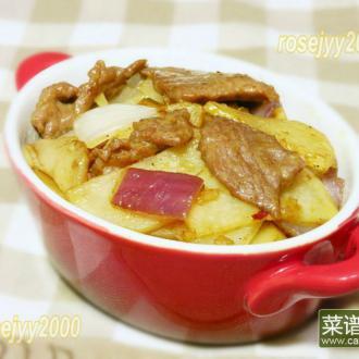 小炒咖喱牛肉土豆