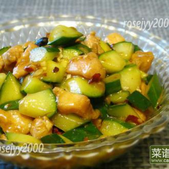鸡丁炒黄瓜