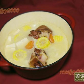 咸猪手豆腐玉米汤