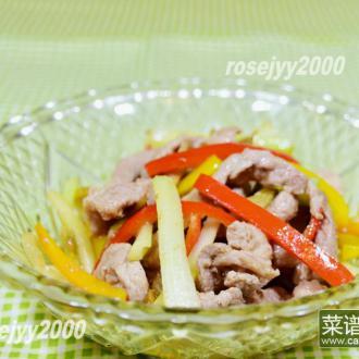 西芹榨菜炒肉丝