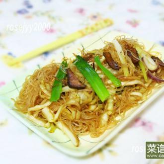 叉烧椰菜炒细粉