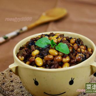 牛肉末梅菜焖黄豆