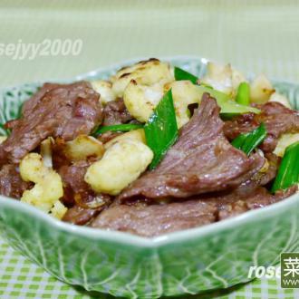 咖喱菜花牛肉片