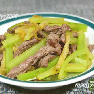 牛肉炒榨菜西芹