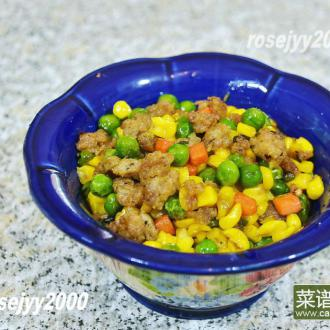 肉末蔬菜粒