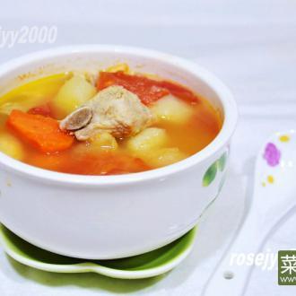 排骨青红萝卜土豆汤