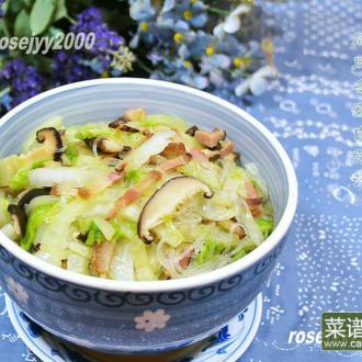 咸肉冬菇白菜汤
