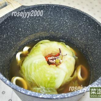 椰菜海鲜汤