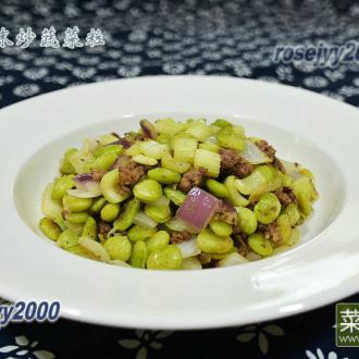 牛肉末炒蔬菜粒