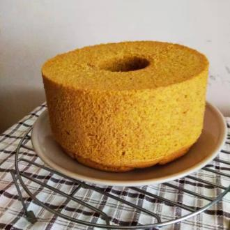 南瓜全麦中空戚风蛋糕