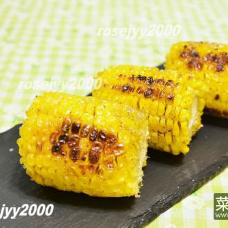 木炭烧烤玉米