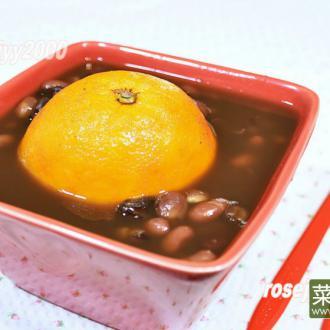 鲜橙红豆糖水