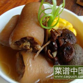 茶树菇猪尾巴汤的做法_茶树菇猪尾巴汤怎么吃