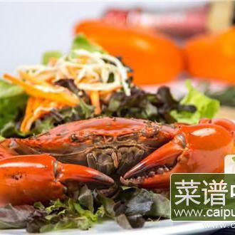 螃蟹和柿饼可以同时食用吗